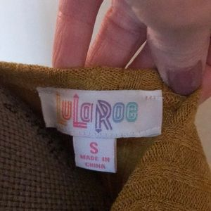 Sweaters - Lularoe ribbed small mustard Sara